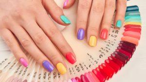 Nail varnish swatches